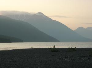 """Sunset"" over Kenai Lake"