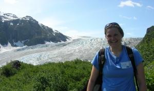 In front of Exit Glacier